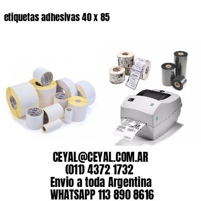 etiquetas adhesivas 40 x 85