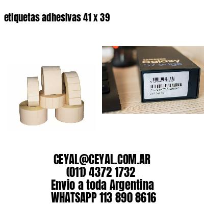 etiquetas adhesivas 41 x 39
