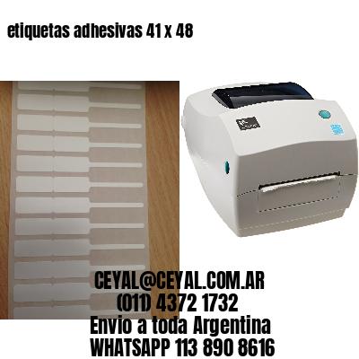etiquetas adhesivas 41 x 48