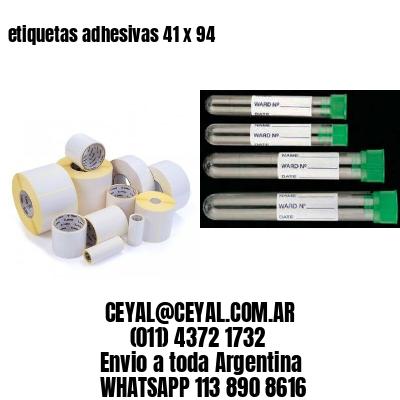 etiquetas adhesivas 41 x 94
