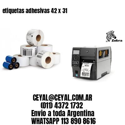 etiquetas adhesivas 42 x 31