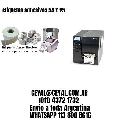 etiquetas adhesivas 54 x 25