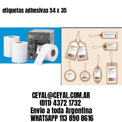 etiquetas adhesivas 54 x 35