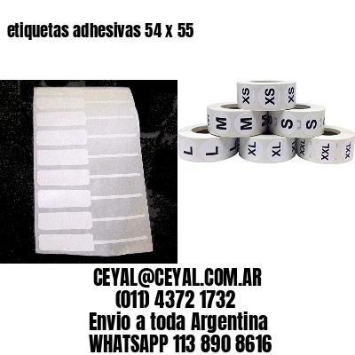 etiquetas adhesivas 54 x 55
