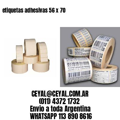 etiquetas adhesivas 56 x 70