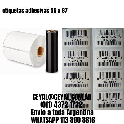 etiquetas adhesivas 56 x 87