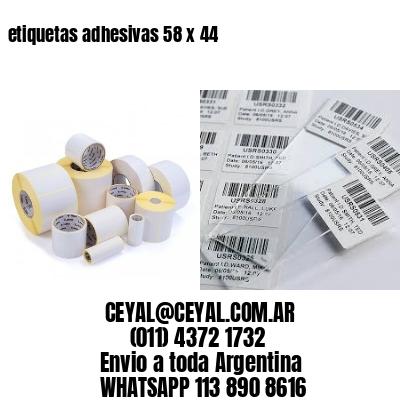 etiquetas adhesivas 58 x 44