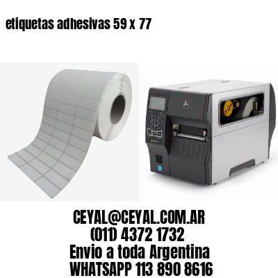 etiquetas adhesivas 59 x 77