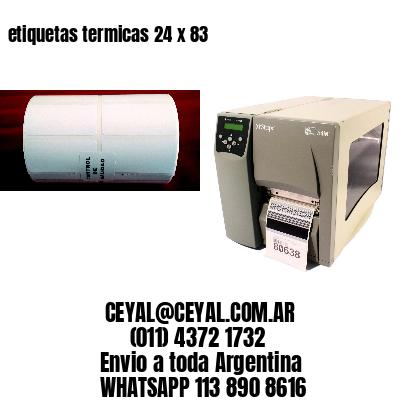 etiquetas termicas 24 x 83