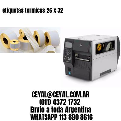 etiquetas termicas 26 x 32