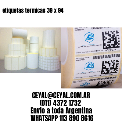 etiquetas termicas 39 x 94