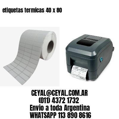 etiquetas termicas 40 x 80
