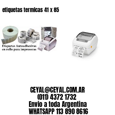 etiquetas termicas 41 x 85