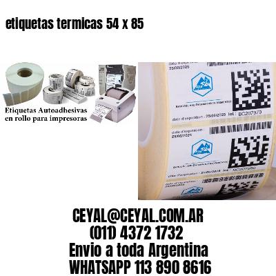 etiquetas termicas 54 x 85