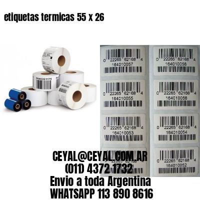etiquetas termicas 55 x 26