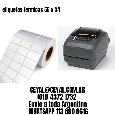 etiquetas termicas 55 x 34