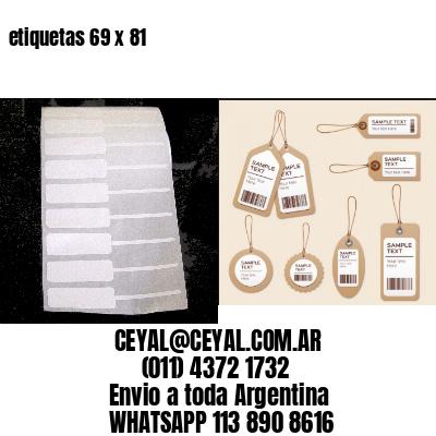 etiquetas 69 x 81