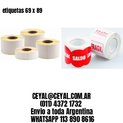 etiquetas 69 x 89