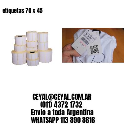 etiquetas 70 x 45