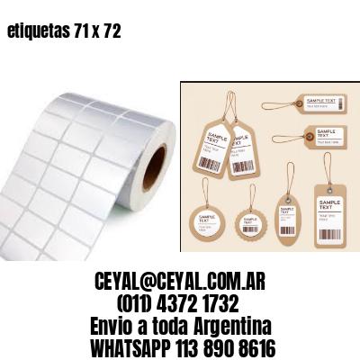 etiquetas 71 x 72