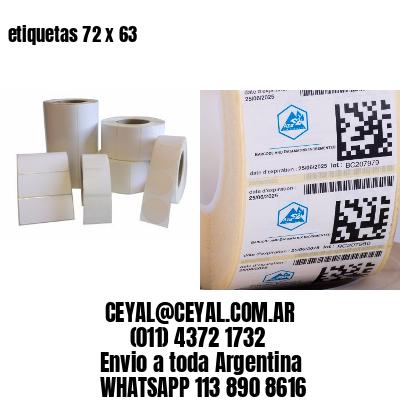 etiquetas 72 x 63