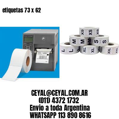 etiquetas 73 x 62