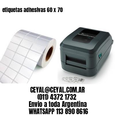 etiquetas adhesivas 60 x 70
