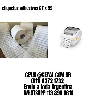 etiquetas adhesivas 67 x 99