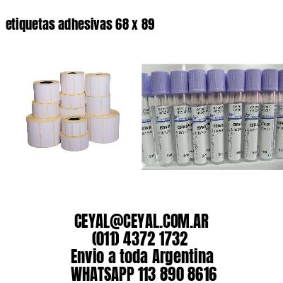 etiquetas adhesivas 68 x 89