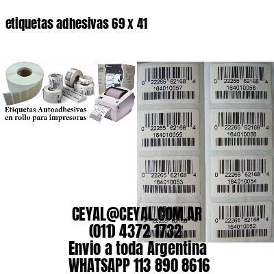 etiquetas adhesivas 69 x 41