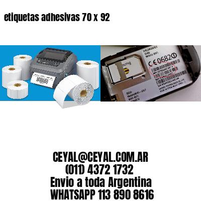 etiquetas adhesivas 70 x 92