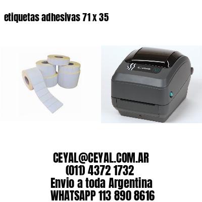 etiquetas adhesivas 71 x 35