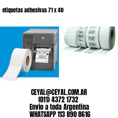 etiquetas adhesivas 71 x 40