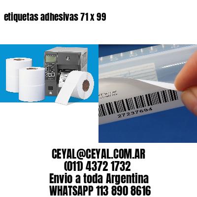 etiquetas adhesivas 71 x 99