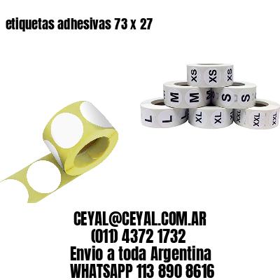 etiquetas adhesivas 73 x 27