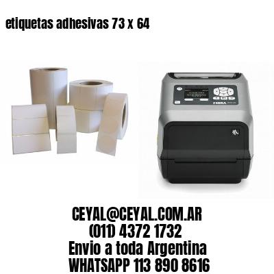 etiquetas adhesivas 73 x 64