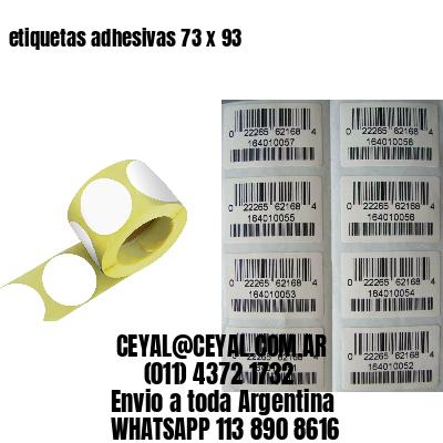 etiquetas adhesivas 73 x 93