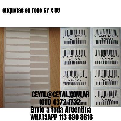 etiquetas en rollo 67 x 88