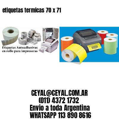 etiquetas termicas 70 x 71