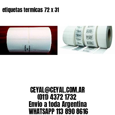 etiquetas termicas 72 x 31