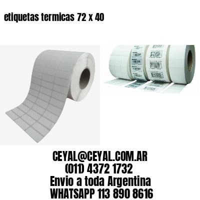 etiquetas termicas 72 x 40