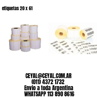 etiquetas 20 x 61