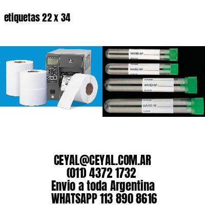 etiquetas 22 x 34