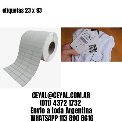 etiquetas 23 x 93