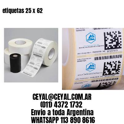 etiquetas 25 x 62