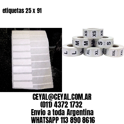 etiquetas 25 x 91