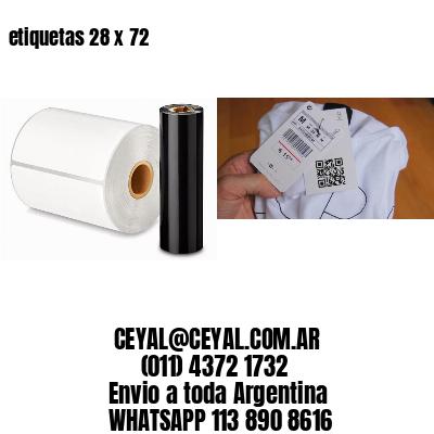 etiquetas 28 x 72