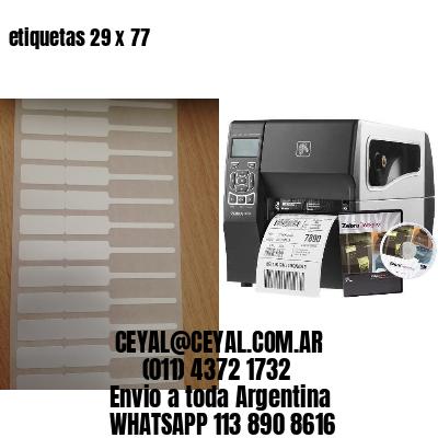 etiquetas 29 x 77