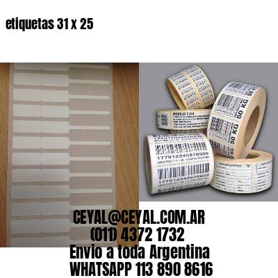 etiquetas 31 x 25