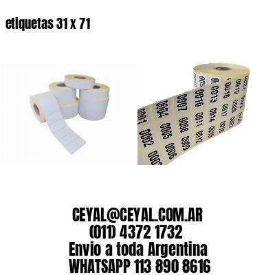 etiquetas 31 x 71